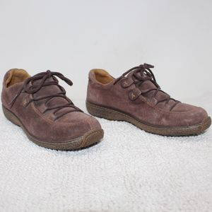 Timberland Comfort Leather Lace Up Shoes Brown 8